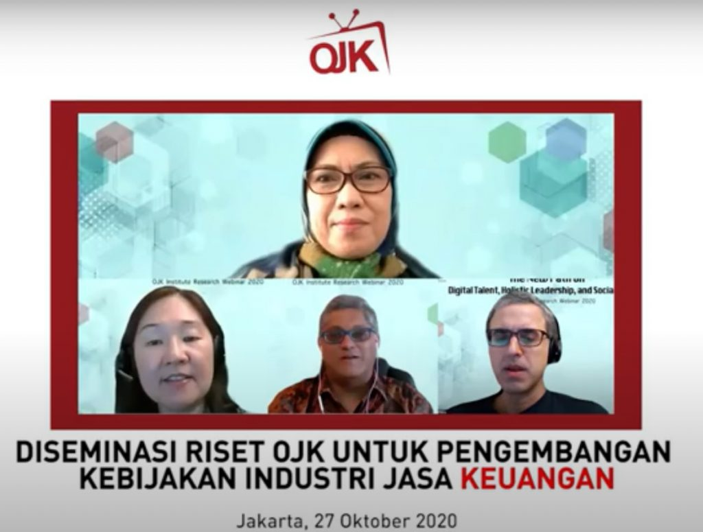 "seminar riset dengan tema ""Holistic Leadership and Digital Talent Development in Indonesia Financial Industry"